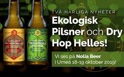 Premiär för Ekologisk Pilsner och Dry Hop Helles!